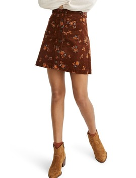 Forest Floral Corduroy A Line Miniskirt by Madewell