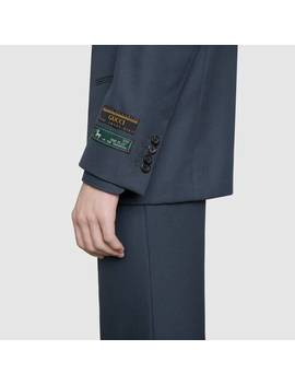 Drill Jacket With Sartorial Labels by Gucci