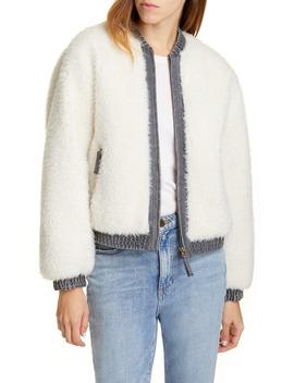 Faux Fur Denim Jacket by La Vie Rebecca Taylor