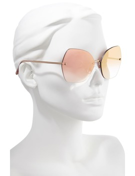 Lucia 64mm Mirrored Oversize Butterfly Sunglasses by Dolce&Gabbana