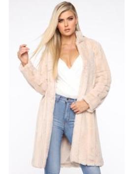 There Fur You Coat   Ivory by Fashion Nova