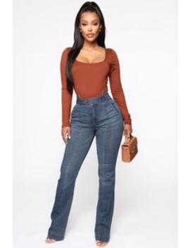 Karma High Rise Jeans   Dark Denim by Fashion Nova