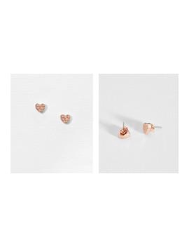 Heart To Heart Stud Earrings by Ted Baker