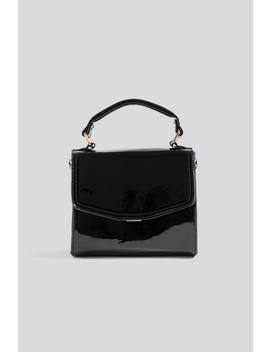 Patent Top Handle Bag Black by Na Kd Accessories