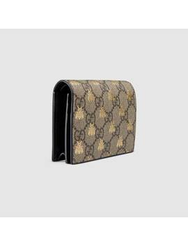 Cartera Gg Supreme Con Abejas by Gucci
