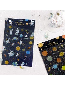 Milena   Astronaut / Planet Pvc Sticker by Milena