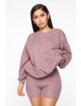 Simply Cozy Sweater Set   Mauve by Fashion Nova