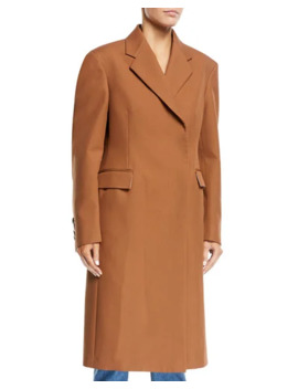 Calvin Klein 205 W39 Nyc Notched Collar Rounded Sleeve Hidden Placket Coat  by Calvin Klein 205 W39 Nyc