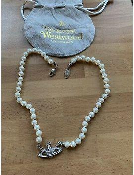<Span><Span>Vivienne Westwood Mini Bass Relief Crystal Pearl Choker Necklace </Span></Span> by Ebay Seller