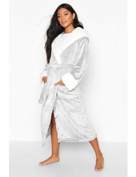 Luxury Soft Fleece Longline Dressing Gown by Boohoo
