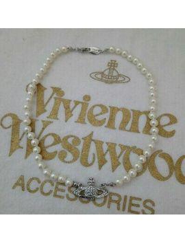 <Span><Span>New Vivienne Westwood Silver Swarovski Crystal Pearl Necklace Rrp £125</Span></Span> by Ebay Seller
