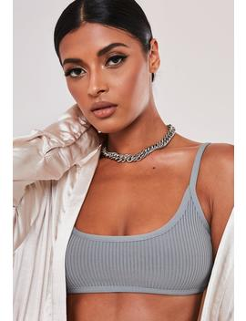 Sofia Richie X Missguided Silver Look Chunky T Bar Choker by Missguided