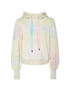 Linette Tie Dye Cotton Hooded Sweatshirt by Love Shack Fancy