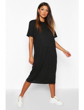 Rib Knit Midi T Shirt Dress by Boohoo