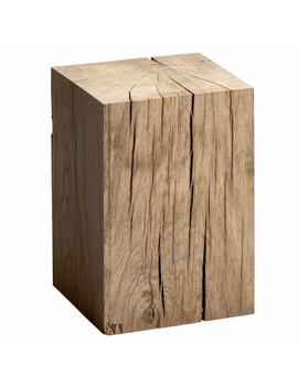Merlin Solid Oak Block Side Table by Am.Pm