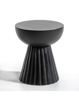 Donato Drum Shape Mango Side Table by Am.Pm