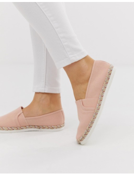 New Look Wide Fit – Espadrilles In Hellrosa by Asos