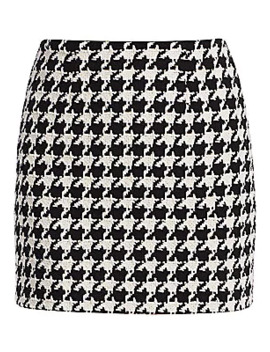 Livia Houndstooth Mini Skirt by L'agence