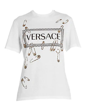 Safety Pin Logo Tee by Versace