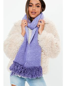 Purple Speckle Detail Scarf by Missguided