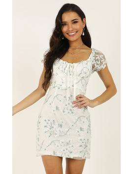Answer My Call Dress In White Floral by Showpo Fashion