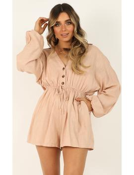 High Spirits Playsuit In Beige by Showpo Fashion