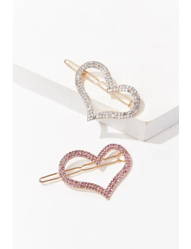 Heart Cutout Snap Clip Set by Forever 21