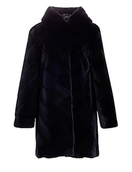 Hooded Mink Fur Coat by Norman Ambrose