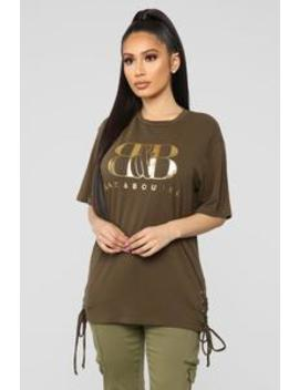Bad & Boujee Tunic Top   Olive by Fashion Nova