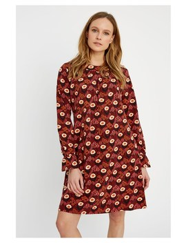 V&A Daisy Print Short Dress by People Tree