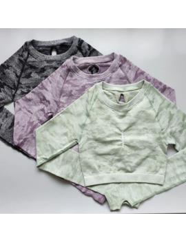 Nepoagym Women Camo Seamless Cropped Top Seamless Long Sleeve Top Sports Wear For Women Gym Yoga Shirt Crop Top Workout by Ali Express.Com