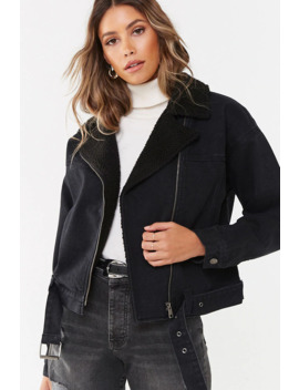 Belted Denim Jacket by Forever 21
