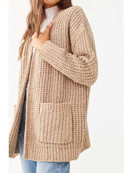 Metallic Open Front Cardigan by Forever 21