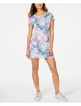 Hibiscus Print Keyhole Tunic, Created For Macy's by General