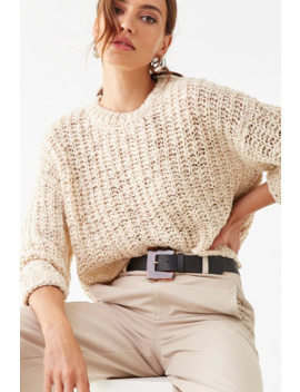 Chunky Open Knit Sweater by Forever 21