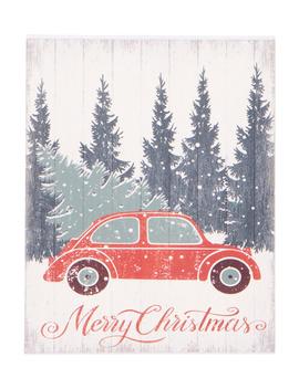 16x20 Christmas Car Wall Decor by Tj Maxx