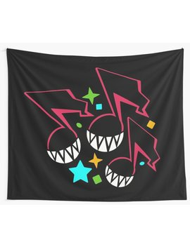 Smiling Music Notes Wall Tapestry by Jay Mart