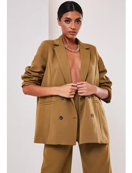 Sofia Richie X Missguided Taupe Oversized Tailored Jacket by Missguided