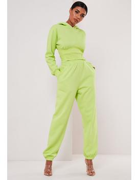 Sofia Richie X Missguided Neon Yellow Oversized 90s Joggers by Missguided
