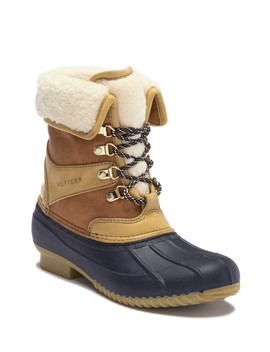 Rusteen Faux Shearling Lined Duck Boot by Tommy Hilfiger