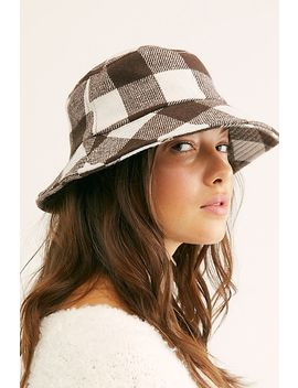 New School Plaid Bucket Hat by Free People