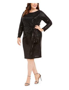 Plus Size Metallic Sheath Dress by General