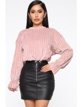 Pulling You Closer Faux Fur Top   Pink by Fashion Nova