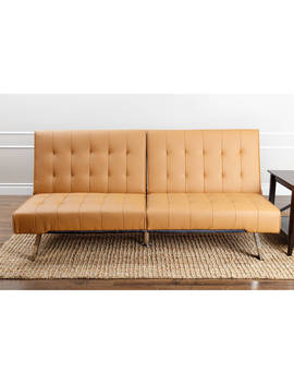 Devon & Claire Bari Leather Foldable Futon, Multiple Colors by Devon & Claire