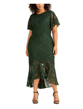 Plus Size Sparkle Stretch Lace Dress by General