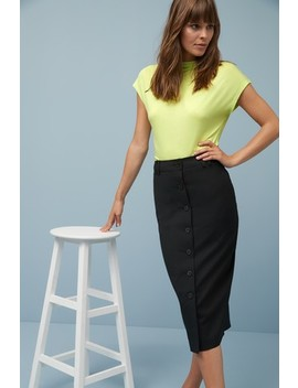 Sharkskin Textured Pencil Skirt by Next