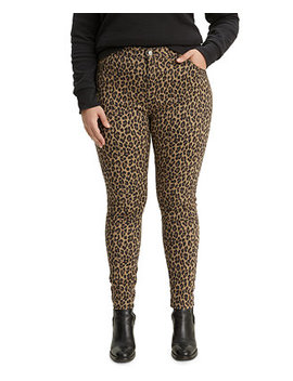 720 Plus Size Leopard Print Super Skinny Jeans by General