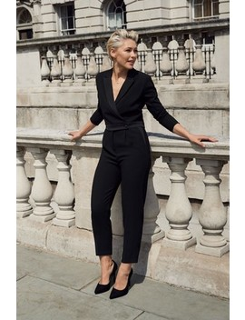 Black Emma Willis Tux Jumpsuit by Next