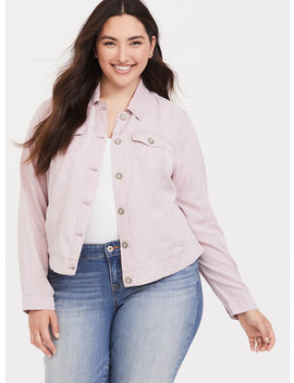 Lilac Purple Lyocell Trucker Jacket by Torrid
