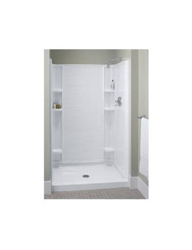 Sterling Ensemble 36 In. X 34 In. Single Threshold Shower Base In White by Sterling Plumbing
